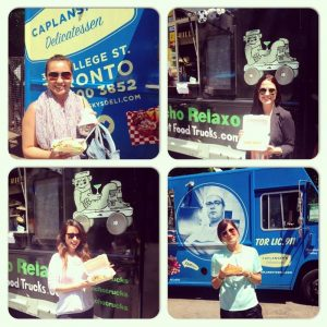 Charzie and the energi team at the Toronto Food Truck Alley on King