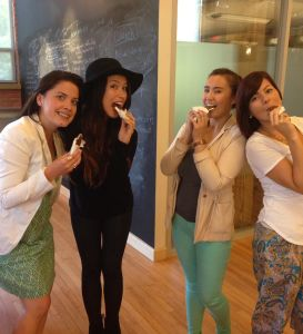 Charzie and part of the energi team on National Ice Cream Day