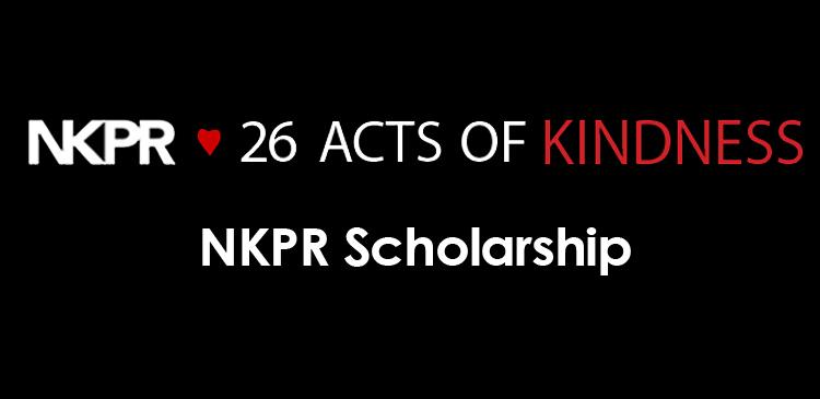 INTRODUCING NKPR'S ANNUAL PR SCHOLARSHIP